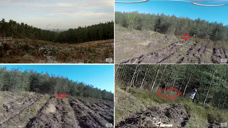 fotografías captadas por un dron